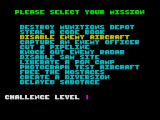 Airborne Ranger ZX Spectrum Mission select