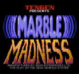 Marble Madness Genesis Title screen (JP).
