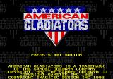 American Gladiators Genesis Title screen.