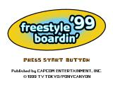 Freestyle Boardin' '99 PlayStation Title screen (US).