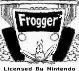 Frogger Game Boy Title screen.