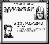 DragonHeart Game Boy An ugly soldier.