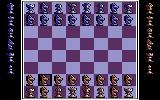Battle Chess Commodore 64 Using the custom board feature. I changed all the pawns into knights.