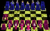 """Battle Chess DOS Playing on my custom made """"rook"""" board. This should be interesting! (VGA)"""