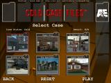 Cold Case Files Windows Select the case you would like to work on