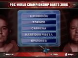 PDC World Championship Darts 2008 Windows Main Menu.