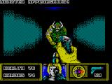 The Dark ZX Spectrum Level 1: Monster approaching.<br>
