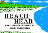 Beach-Head Apple II Title screen