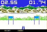 The Games: Winter Edition Apple II Down Hill - first person view