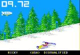 The Games: Winter Edition Apple II Down Hill - another man bites the dust... er... snow