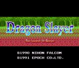 Dragon Slayer: The Legend of Heroes SNES Title screen
