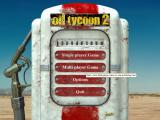 Big Oil Windows The main menu<br>When the game starts there's a short pause while it initialises and then the main menu is displayed. There's no animated sequence at the start