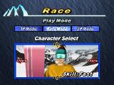 Snowboarding  PlayStation One of the three characters.