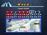 Snowboarding  PlayStation Race mode. All courses were unlocked.