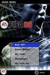 FIFA Soccer 06  Nintendo DS Main Menu