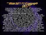 007: The World is Not Enough PlayStation Copyright screen.