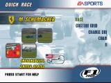F1 2000 PlayStation The main menu has mini-clips from actual F1 races.