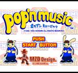 pop'n music PlayStation Title screen.