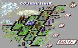 OutRun Commodore 64 Course map - choose a course. (US Release)
