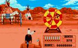 Buffalo Bill's Wild West Show Amiga Knife throwing - Throw the knives and avoid hitting the woman.