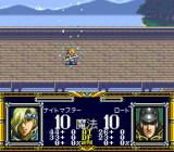 Der Langrisser SNES Enemy casts a magic spell