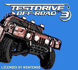 Test Drive: Off-Road 3 Game Boy Color Title screen (US version)