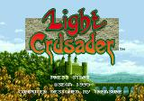 Light Crusader Genesis Title screen