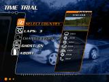 Need for Speed: V-Rally 2 Windows Selecting a location for the time trial.
