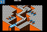 Marble Madness Apple II Made it to the goal on the first level!
