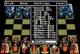 Battle Chess Apple II Drop down menu.
