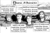 Defender of the Crown Macintosh Choose your character.