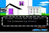 Snooper Troops: Case #2 - The Case of the Disappearing Dolphin Apple II Title screen.