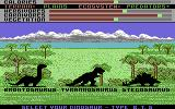 Designasaurus Commodore 64 Walk a Dinosaur - Choose a dino.