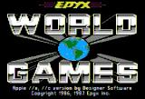 World Games Apple II Title screen.