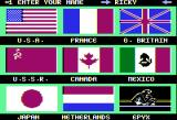 World Games Apple II Enter your name and select your country,