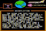 World Games Apple II Weight Lifting travelogue