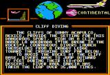 World Games Apple II Cliff Diving travelogue