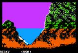 World Games Apple II Cliff Diving - Swimming back up to the surface
