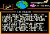 World Games Apple II Log Rolling travelogue