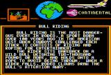 World Games Apple II Bull Riding travelogue