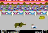 World Games Apple II Bull Riding - The bull knocked me off!