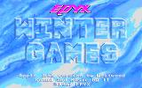 Winter Games Apple IIgs Title screen.