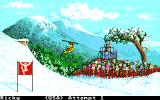 Winter Games Apple IIgs Hot Dog - I'm airborne!