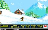 Winter Games Apple IIgs Biathlon - Skiing down a slope
