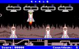 Math Blaster Plus! Amiga Blasternauts - Blasting off in a rocket.