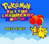 Pokémon Puzzle Challenge Game Boy Color Title Screen