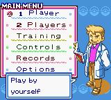 Pokémon Puzzle Challenge Game Boy Color Main Menu