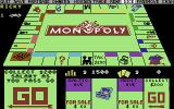 Monopoly Commodore 64 The board at the start of the game. (US release)