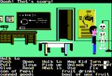 Maniac Mansion Apple II A real skeleton! Scary!
