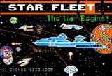 Star Fleet I: The War Begins! Apple II Title screen.